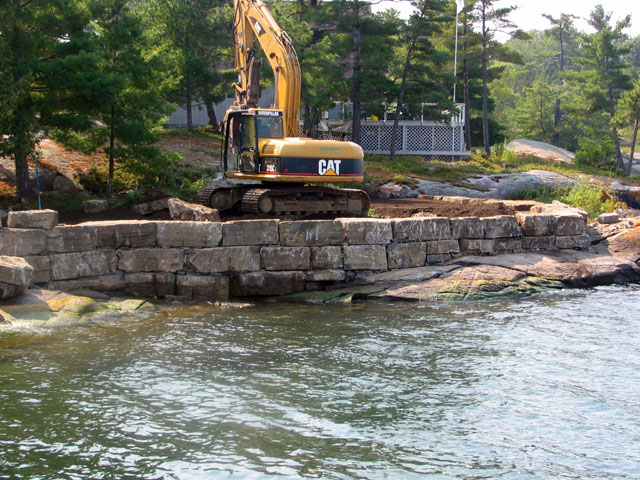 Seawalls & Rock Retaining Walls