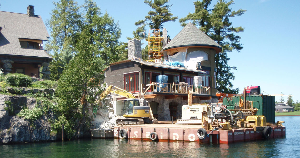Thousand Islands Boathouse Construction