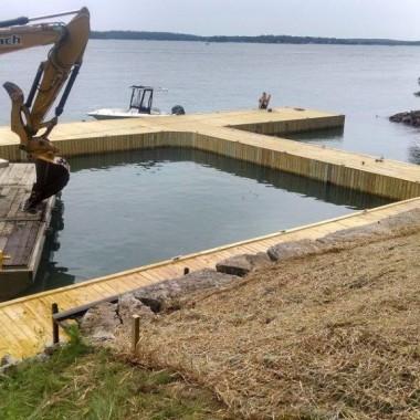 New Dock & Limestone Stairway